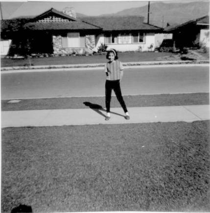 Cynthy in front of house on Maryhurst 1964