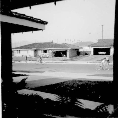 Claremont view from living room window Craig bike 1964