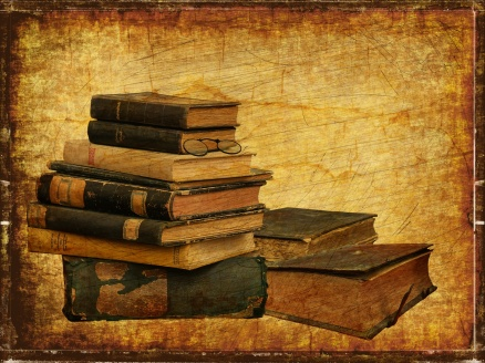 old-books-vintage-background